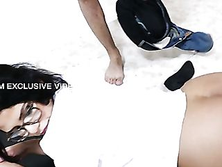 Lewd Porter Dude Gets Lured By Lusty Mummy Rose Monroe And Treated With Bj