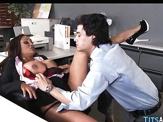 Indian Mummy With Ample Tits At Work