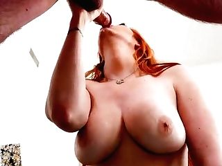 Ginger-haired Mom Drinks