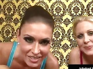 Mommy Cougar Julia Ann & Jessica Jaymes Get A Hot Flow Of Spunk!