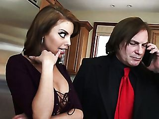 Sexy Cockslut Britney Amber Is Having Some Joy With A Rich Man In The Kitchen