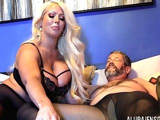 Decadent Dude In Pantyhose Fucks Bodacious Woman Alura Jenson