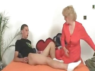Mummy In Law Fucks Him And His Wifey Comes In