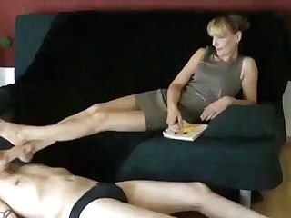 Long-legged Matures Foot Service!