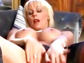 Blonde Cougar Masturbates