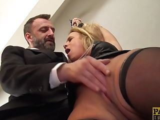 Brit Skank Sasha Steele Throated And Fucked Hard In Bootie