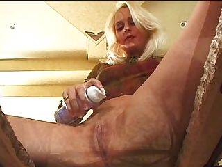 Smoothly-shaven Blonde Gets Dual Penetrated