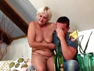 Wifey Leaves And He Fucks Old Blonde From Behind
