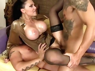 Oiled Up For Dual Fucking With Aletta Ocean