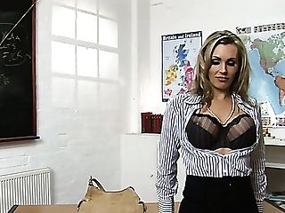 Giant Jugged Blonde Professor Tanya Tate Wanna Be Fucked On The Table