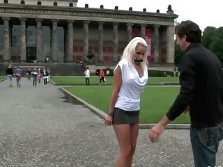 Best Of Europe: Beautiful German Cougar Shackled And Fucked In Public