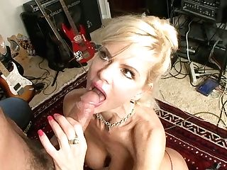 Horny Cougar Crystal Milky Gets Horny For Youthful Guitar Player