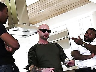 Lewd Hotwife Chooses To Witness How Two Black Hunks Do His Buxom Melissa Lynn