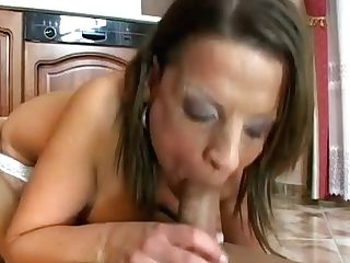 Perverted Big Titted Housewife Rails And Deepthroats Dick On The Kitchen Floor