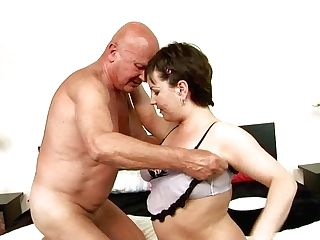 Chubby Mom Is Sucking Dick Of Bald Grand-pa In Filthy Xxx Free Pornography Flick