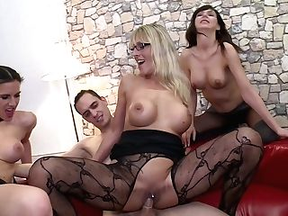 Bitchy Blonde Melina Unspoiled Arranges Switch Sides Gang-fuck For Her Pervy Beau