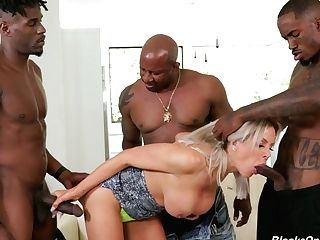 Romp-starved Huge-chested Mummy Nina Elle Is Fucked By A Few Big Black Fellows