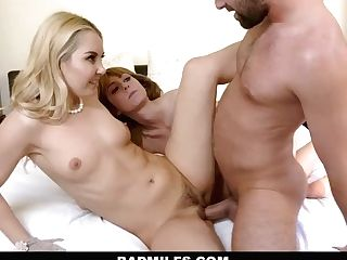 Badmilf - Mummy Ambles In On Stepson Fucking And Joins In